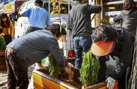 그린웨이 환경축제 꽃...